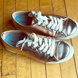 Rose gold sneakers by SeaVees, 9M